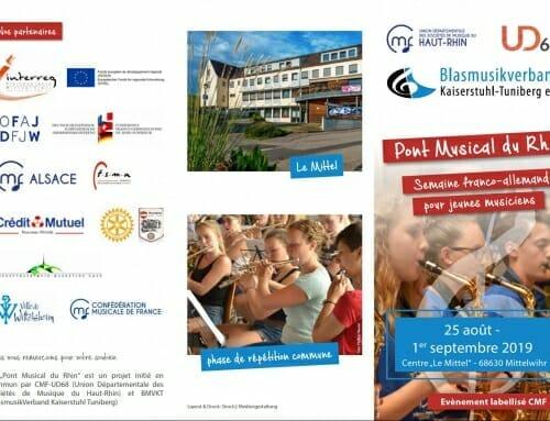 Gastdirigent beim Deutsch-Französischen Musiklager Pont Musical du Rhin